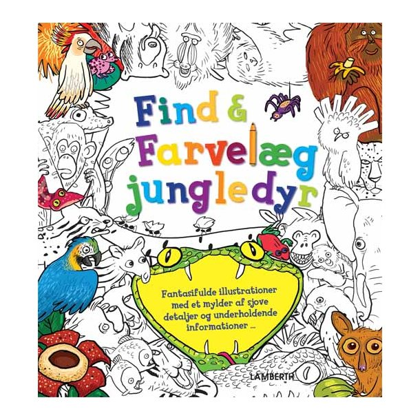 Find og farvelæg jungledyr