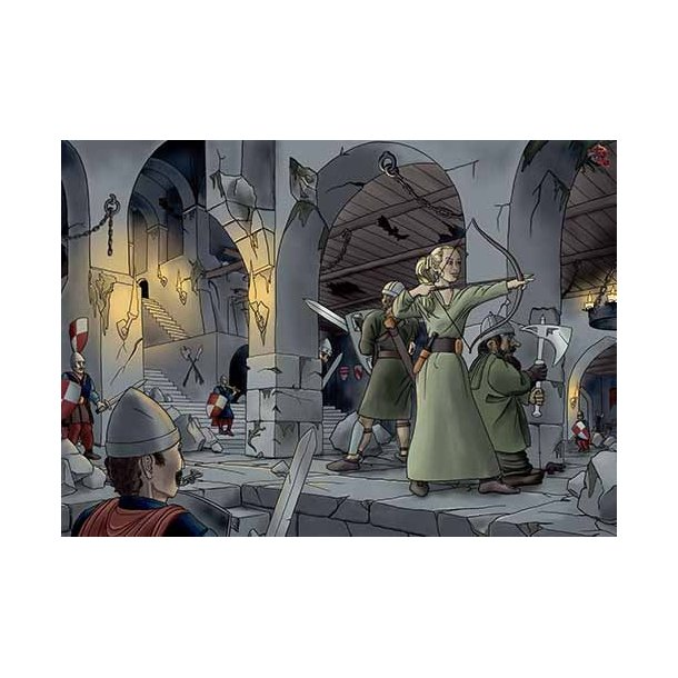 Plakat 50x70cm - Farlige riddere
