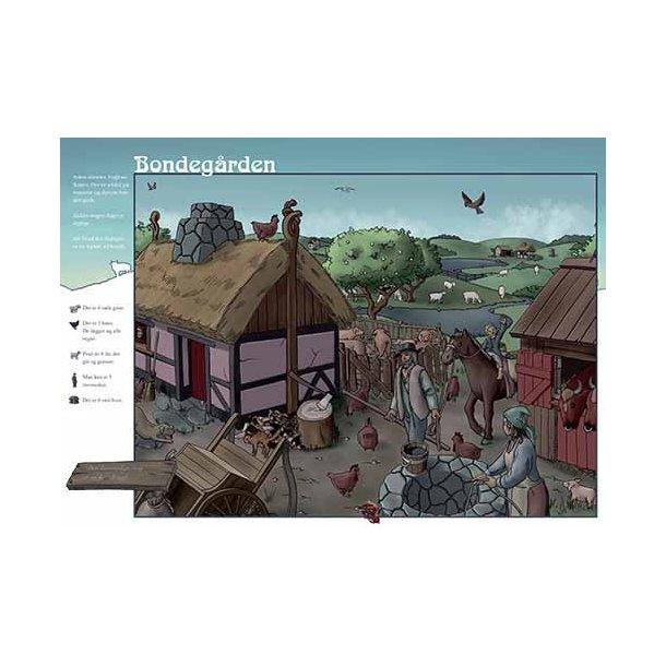 Plakat 50x70cm - Bondegården m. tekst
