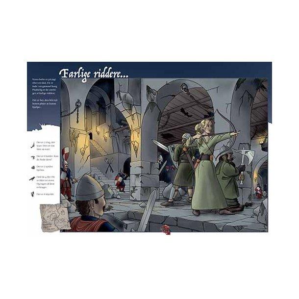 Plakat 50x70cm - Farlige riddere m. tekst